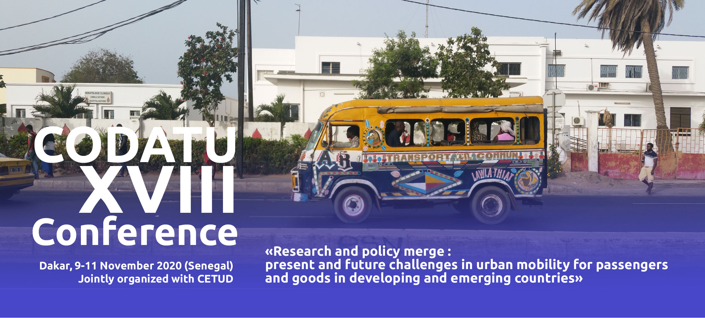 #Postponed# News about the CODATU 2020 Conference in Dakar