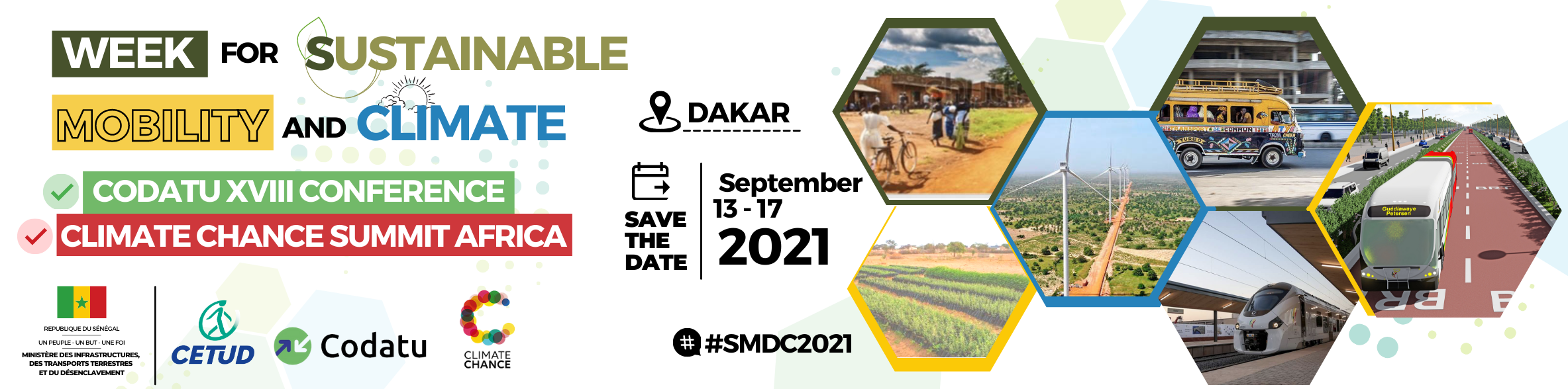 SAVE THE DATE: the Dakar Week for Sustainable Mobility and Climate 2021 will take place 13th-17th September 2021