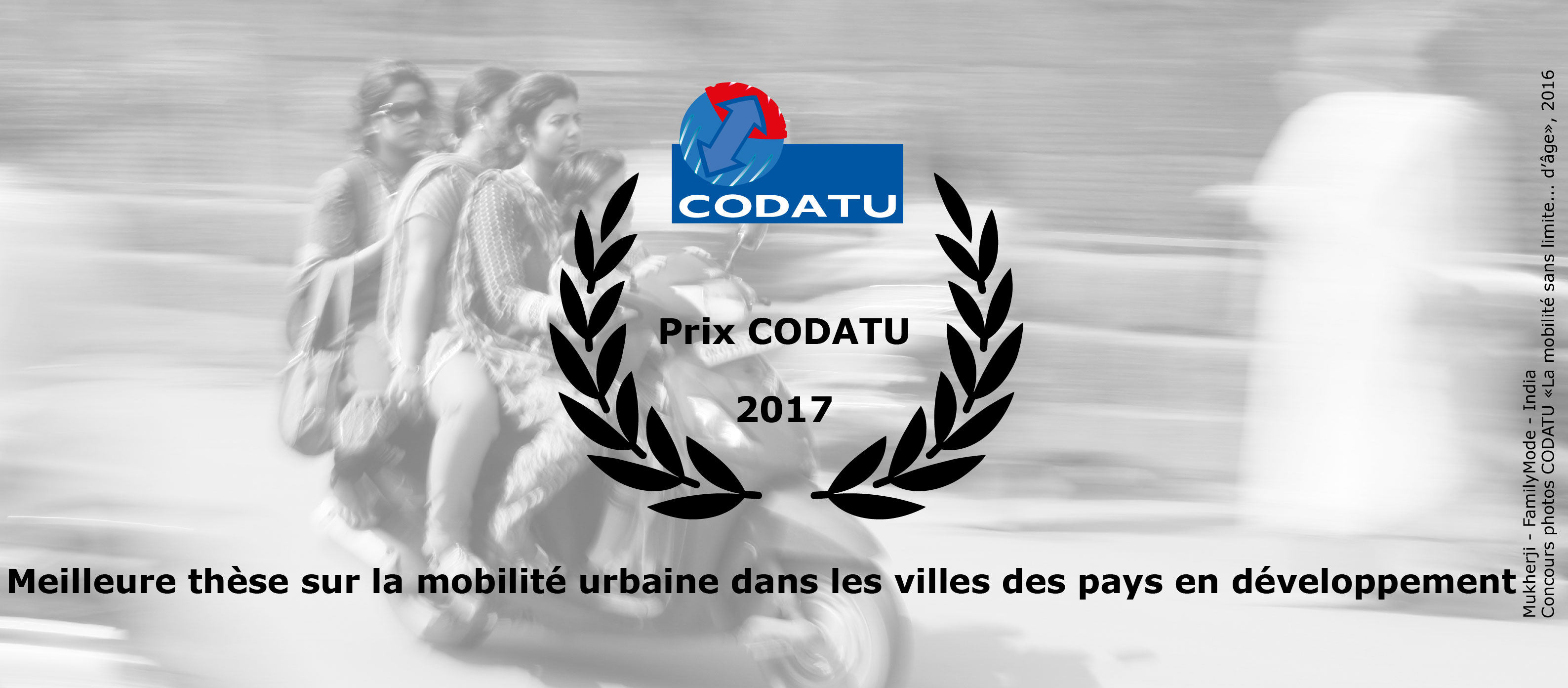 "Results of the 1st edition of ""CODATU Prize of the best PhD Thesis on urban mobility in cities of developing countries"""