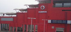 """Vodafone Belvedere Towers"" metro station in Guragon Rapid MetroRail"