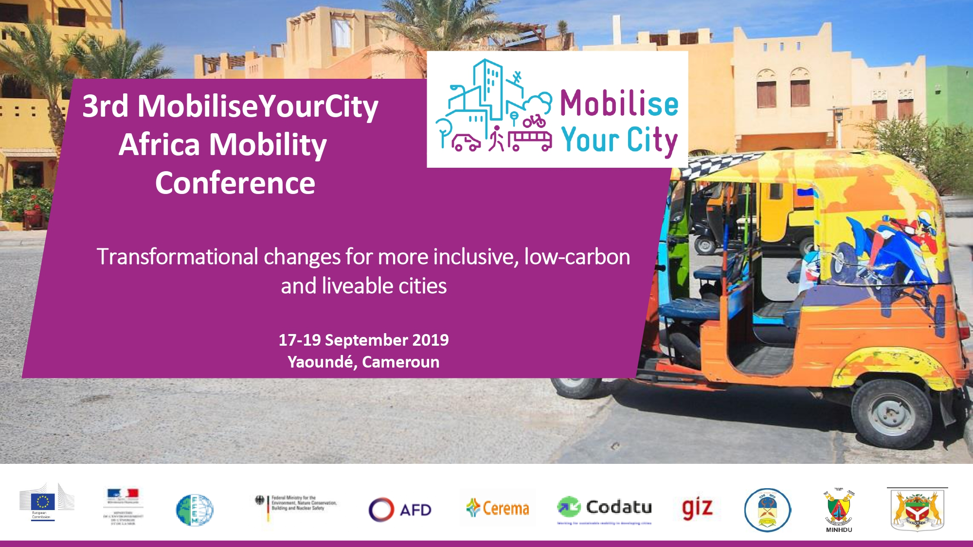 17-19 September: 3rd MobiliseYourCity Africa Mobility Conference in Yaoundé, Cameroon