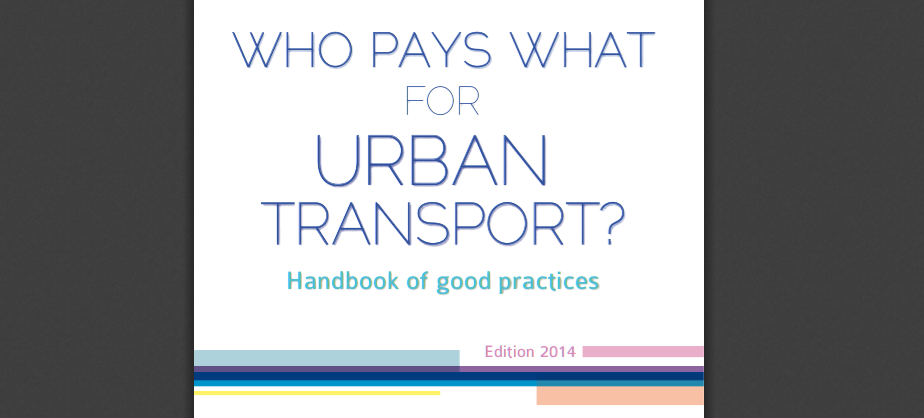 [PUBLICATION] Updated version of the Handbook of Good Practices in Funding Urban Transport