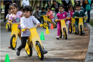 A city education program to encourage a cycling culture early in life. Photo Credit: Claudio Olivares Medina