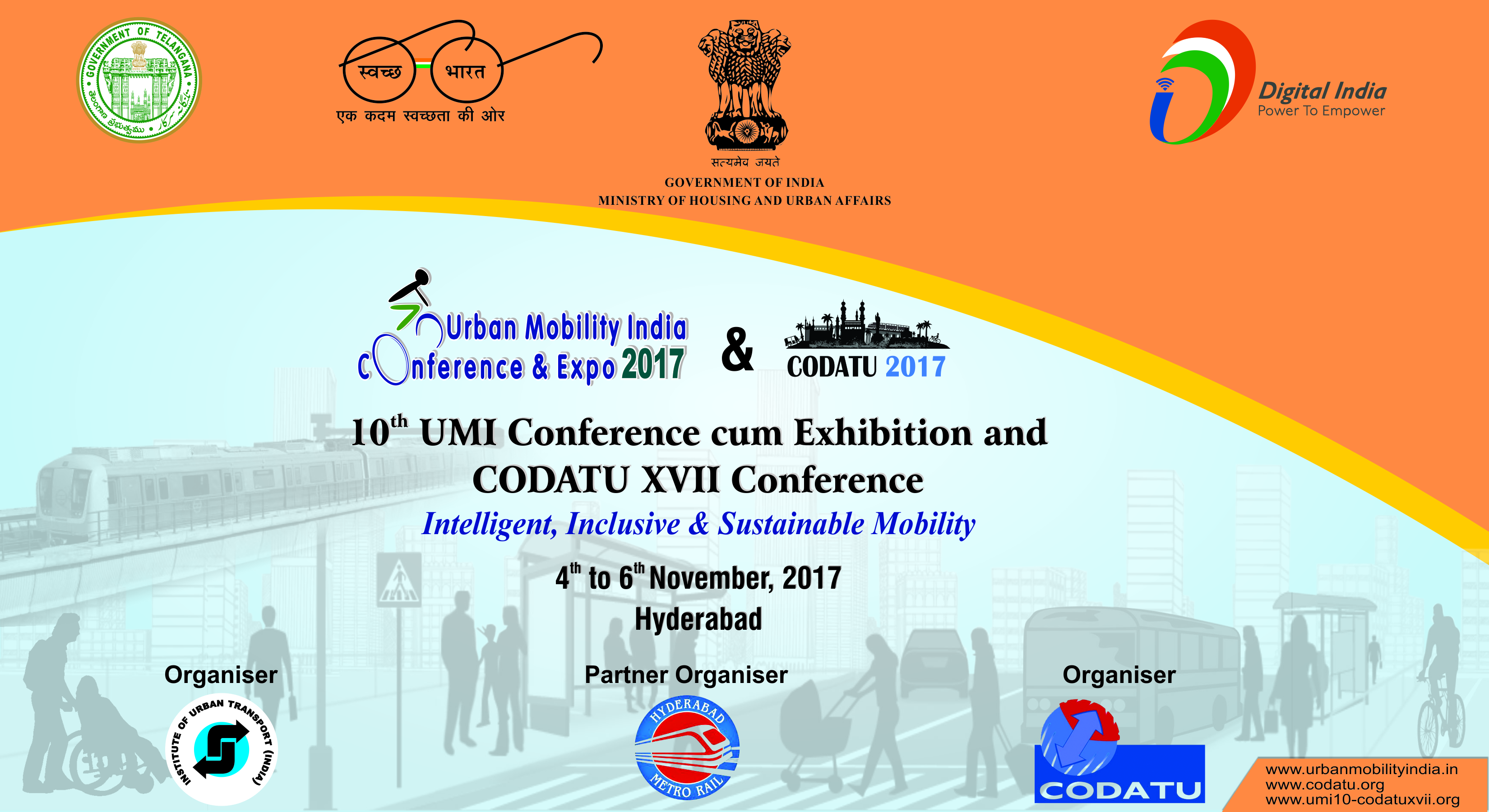 CODATU XVII – 2017 – Hyderabad (India): Smart, Inclusive and Sustainable Mobility