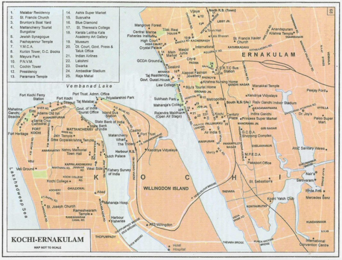 Figure 2: Map of Kochi (Source: indiamike.com)