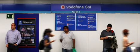 """""""Vodafone Sol"""" station located at the Puerta Del Sol square"""