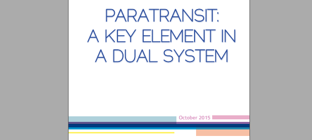 [Publication] «Paratransit, an essential component in a dual system»