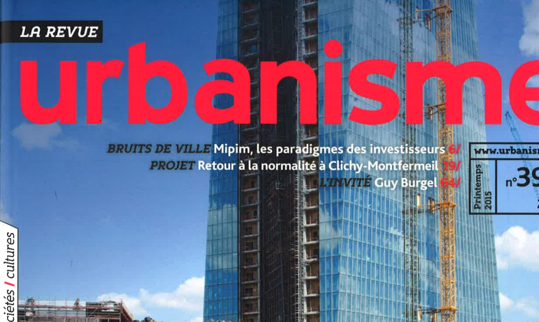 [Journal] URBANISME, « Planning for a Universal urban accessibility »  No. 396 – Spring 2015