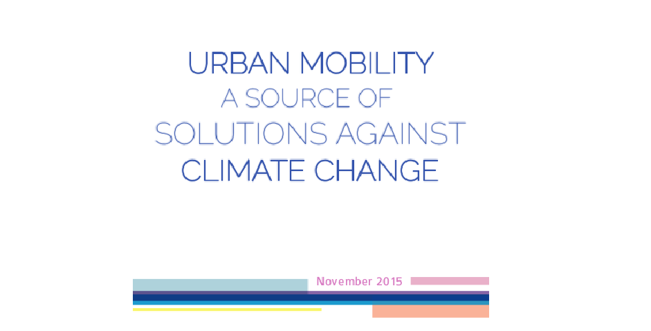 Urban Mobility a source of solutions against climate change