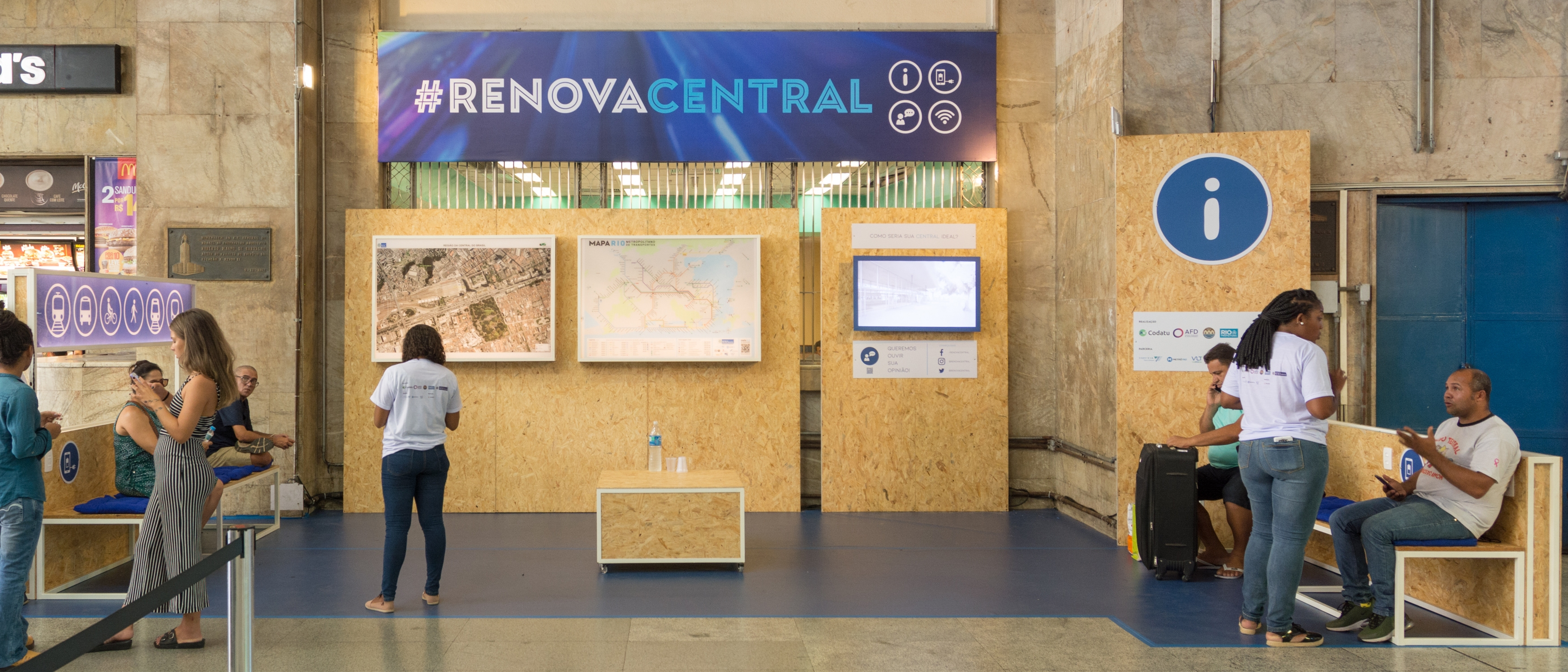 Technical cooperation Brazil – Temporary installation at Central do Brasil station for its users